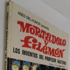 """Tebeos: MORTADELO Y FILEMÓN - """"LOS INVENTOS DEL PROFESOR BACTERIO"""" - ASES DEL HUMOR Nº 14 - AÑO 1972.. Lote 223774107"""