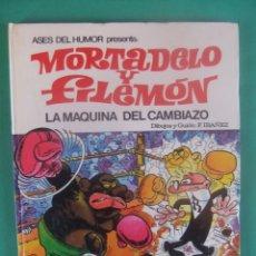 Tebeos: ASES DEL HUMOR Nº 9 MORTADELO Y FILEMON LA MAQUINA DEL CAMBIAZO BRUGUERA. Lote 224051401