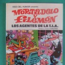 Tebeos: ASES DEL HUMOR Nº 16 MORTADELO Y FILEMON LOS AGENTES DE LA T.I.A. BRUGUERA. Lote 224051632