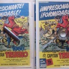 Tebeos: CARTEL-LANZAMIENTO CAPITAN TRUENO, ALMANAQUE 1960. TAMAÑO ORIGINAL. DIBUJO INEDITO DE AMBROS. Lote 103158147