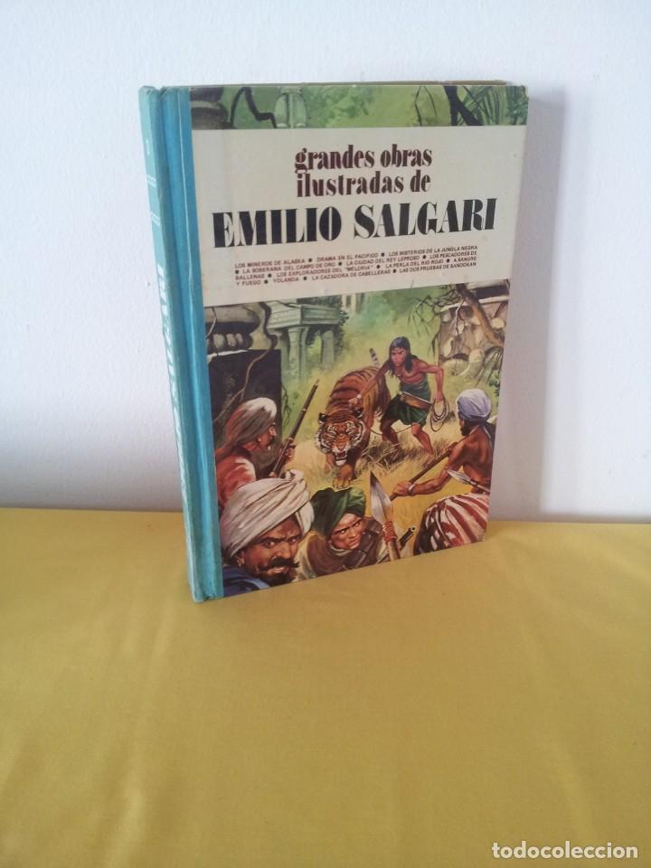 GRANDES OBRAS ILUSTRADAS DE EMILIO SALGARI - TOMO 3 - EDITORIAL BRUGUERA 1ª EDICIÓN 1979 (Tebeos y Comics - Bruguera - Joyas Literarias)