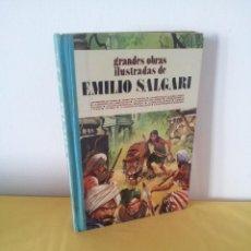 Tebeos: GRANDES OBRAS ILUSTRADAS DE EMILIO SALGARI - TOMO 3 - EDITORIAL BRUGUERA 1ª EDICIÓN 1979. Lote 224371670