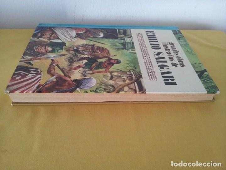 Tebeos: GRANDES OBRAS ILUSTRADAS DE EMILIO SALGARI - TOMO 3 - EDITORIAL BRUGUERA 1ª EDICIÓN 1979 - Foto 2 - 224371670