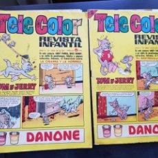 Tebeos: LOTE 2 TEBEOS / CÓMIC TELE COLOR N⁰ 232-233 ORIGINAL BRUGUERA 1967. Lote 224485982