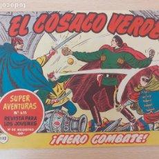 Tebeos: EL COSACO VERDE Nº 112. ORIGINAL. BRUGUERA. Lote 224637287