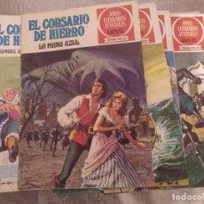 Tebeos: LOTE DE 52 TEBEOS DE JOYAS LITERARIAS JUVENILES (SERIE ROJA) EL CORSARIO DE HIERRO. Lote 225211055