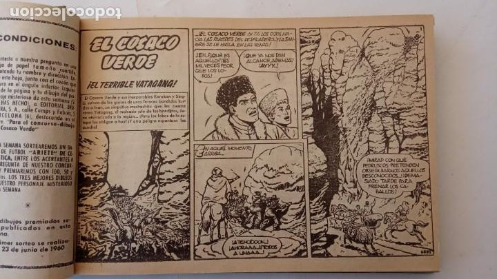 Tebeos: EL COSACO VERDE ORIGINAL 1 AL 70 - 1960 BRUGUERA, VER TODAS LAS PORTADAS - Foto 7 - 225888498