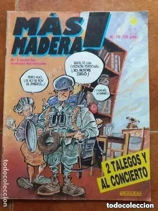 MAS MADERA NUM 10. 2 TALEGOS Y AL CONCIERTO (Tebeos y Comics - Bruguera - Otros)