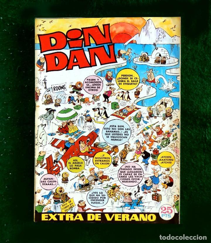 DIN DAN - EXTRA DE VERANO - 1972 - CON 3 BILLETES MORTADELOS DE 1000 - BRUGUERA - ORIGINAL (Tebeos y Comics - Bruguera - Din Dan)