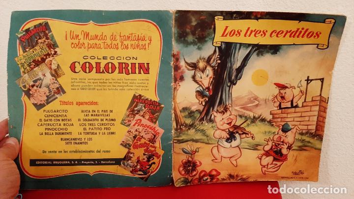 CUENTO LOS TRES CERDITOS 1959 SABATES COLECCION COLORIN BRUGUERA WALT DISNEY (Tebeos y Comics - Bruguera - Otros)