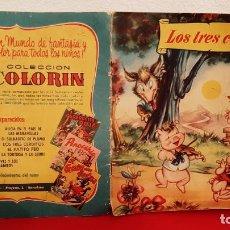 Tebeos: CUENTO LOS TRES CERDITOS 1959 SABATES COLECCION COLORIN BRUGUERA WALT DISNEY. Lote 226666745