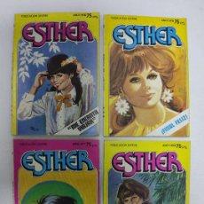 Tebeos: 4 ESTHER - PUBLICACION JUVENIL - AÑO II - Nº 20, 18, 17, 8. Lote 226812030