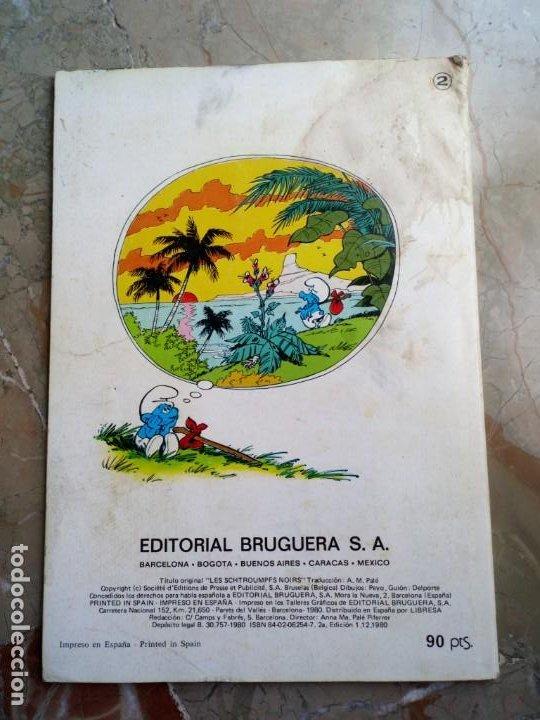 Tebeos: Los Pitufos Nº 2 1 ª Edición 1980 BRUGUERA - Foto 2 - 227022890