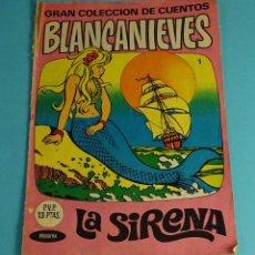 Tebeos: GRAN COLECCION DE CUENTOS BLANCANIEVES Nº 1 LA SIRENA / FLORINDA. EDITORIAL BRUGUERA. Lote 227073295
