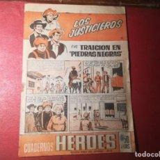 Livros de Banda Desenhada: LOS JUSTICIEROS, CUADERNOS HEROES Nº 2, TRAICIÓN EN PIEDRAS NEGRAS.EDITORIAL BRUGUERA. ORIGINAL. Lote 227762440