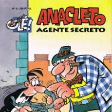 Tebeos: ANACLETO AGENTE SECRETO BY VAZQUEZ. COLECCION OLE NUMERO 5. PORTADA TROQUELADA. Lote 227976580