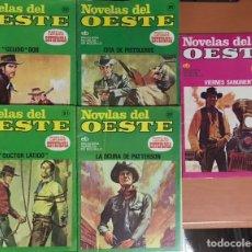 Tebeos: LOTE DE 5 NOVELAS DEL OESTE - MARCIAL LAFUENTE ESTEFANIA TEBEOS COMICS BRUGUERA BOLSILLO. Lote 228366590
