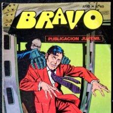 Tebeos: BRAVO PUBLICACIÓN JUVENIL Nº 40 - INSPECTOR DAN Nº 20 - EL MUNDO DE LAS SOMBRAS - BRUGUERA 1978. Lote 228369090