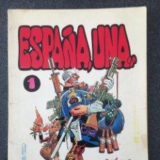 Tebeos: ESPAÑA, UNA... - COLECCIÓN PAPEL VIVO 1 - 1ª EDICIÓN - EDICIONES DE LA TORRE - 1978 - ¡BUEN ESTADO!. Lote 228432375