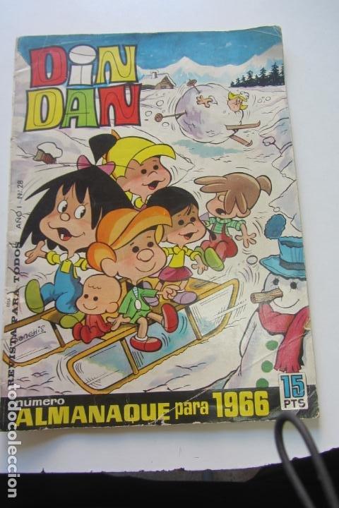 DIN DAN ALMANAQUE 1966 ED. BRUGUERA DIFICIL ARX22 (Tebeos y Comics - Bruguera - Din Dan)