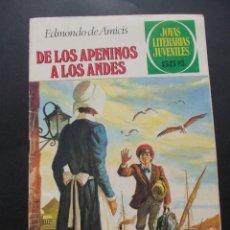 Tebeos: COMIC ED. BRUGUERA. JOYAS LITERARIAS JUVENILES. Nº 75 DE LOS APENINOS A LOS ANDES EDMONDO DE AMICIS. Lote 228902545