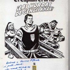 Tebeos: CAPITAN TRUENO Nº 3 DE LA EDICION HISTORICA DEDICADO Y FIRMADO POR VICTOR MORA EN 1988. Lote 229314130