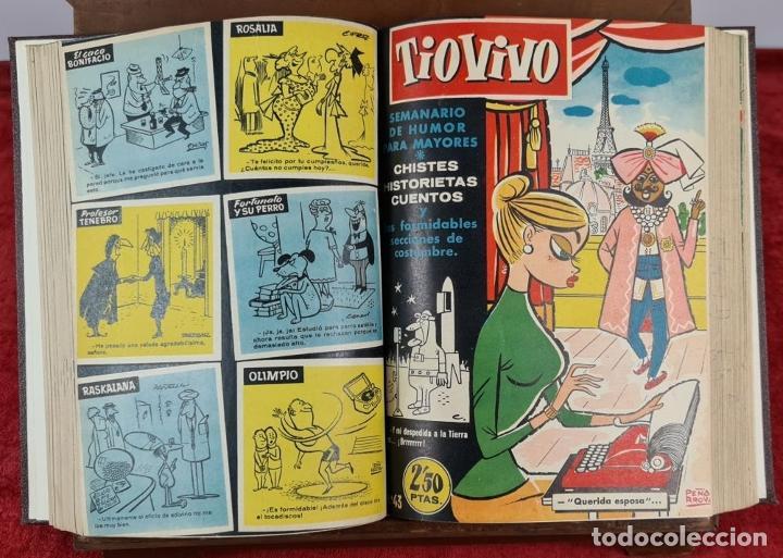 Tebeos: SEMANARIO DE HUMOR TIO VIVO. 95 NUMEROS ENCUADERNADOS. EDIT. CRISOL. AÑOS 50. - Foto 3 - 230518735