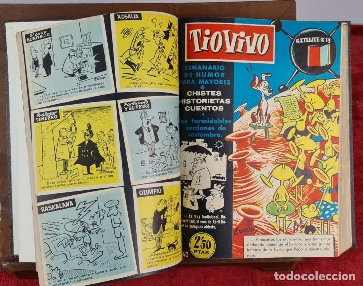 Tebeos: SEMANARIO DE HUMOR TIO VIVO. 95 NUMEROS ENCUADERNADOS. EDIT. CRISOL. AÑOS 50. - Foto 9 - 230518735