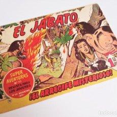 Tebeos: EL JABATO 14 ¡EL ARRECIFE MISTERIOSO! SUPER AVENTURAS Nº 111 EDITORIAL BRUGUERA 1959 MORA Y DARNÍS. Lote 231323450