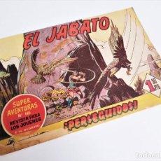 Tebeos: EL JABATO 28 ¡PERSEGUIDOS! SUPER AVENTURAS Nº 145 EDITORIAL BRUGUERA 1959 MORA Y DARNÍS. Lote 231335370