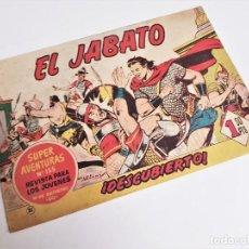 Tebeos: EL JABATO 32 ¡DESCUBIERTO! SUPER AVENTURAS Nº 155 EDITORIAL BRUGUERA 1959 MORA Y DARNÍS. Lote 231343620