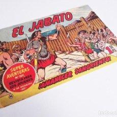 Tebeos: EL JABATO 34 ¡AMANECER SANGRIENTO! SUPER AVENTURAS Nº 160 EDITORIAL BRUGUERA 1959. Lote 231347445
