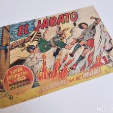 Tebeos: EL JABATO 63 ¡LLAMAS EN EL MAR! SUPER AVENTURAS Nº 240 EDITORIAL BRUGUERA 1959. Lote 231371045