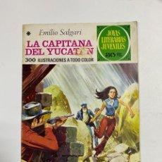Tebeos: LA CAPITANA DEL YUCATAN. EMILIO SALGARI. JOYAS LITERARIAS JUVENILES Nº 124. EDITORIAL BRUGUERA. 1977. Lote 231511585