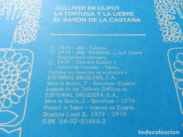 Tebeos: Los viajes de Gulliver Cuéntame un cuento 4 BRUGUERA 1974 JAN liliput tortuga liebre baron castaña - Foto 7 - 232684120