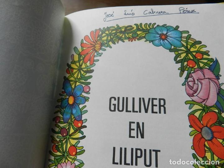 Tebeos: Los viajes de Gulliver Cuéntame un cuento 4 BRUGUERA 1974 JAN liliput tortuga liebre baron castaña - Foto 8 - 232684120