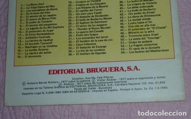 Tebeos: EL CORSARIO DE HIERRO Nº 1. SERIE ROJA. JOYAS LITERARIAS JUVENILES. BRUGUERA. LA MANO AZUL - Foto 2 - 232708250