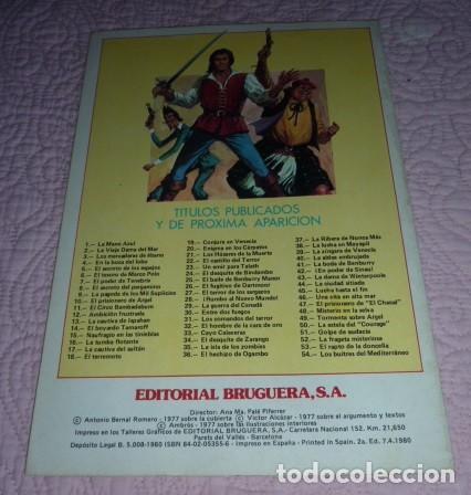 Tebeos: EL CORSARIO DE HIERRO Nº 1. SERIE ROJA. JOYAS LITERARIAS JUVENILES. BRUGUERA. LA MANO AZUL - Foto 5 - 232708250