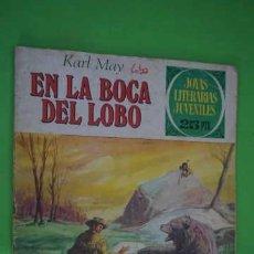 Tebeos: JOYAS LITERARIAS JUVENILES NUMERO 176, EN LA BOCA DEL LOBO. Lote 232741825