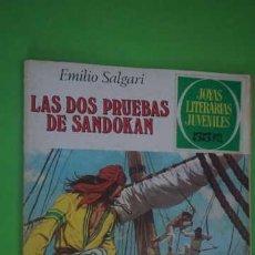 Tebeos: JOYAS LITERARIAS JUVENILES NUMERO 207, LAS DOS PRUEBAS DE SANDOKAN. Lote 232754300