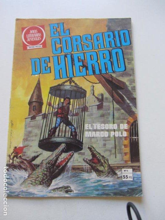 EL CORSARIO DE HIERRO Nº 6 JOYAS LITERARIAS JUVENILES. BRUGUERA SERIE ROJA AX40 (Tebeos y Comics - Bruguera - Corsario de Hierro)