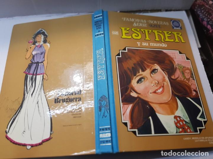 FAMOSAS NOVELAS SERIE AZUL-ESTHER-EDITORIAL BRUGUERA LOMO TELA 1982 PRIMERA EDICIÓN (Tebeos y Comics - Bruguera - Esther)