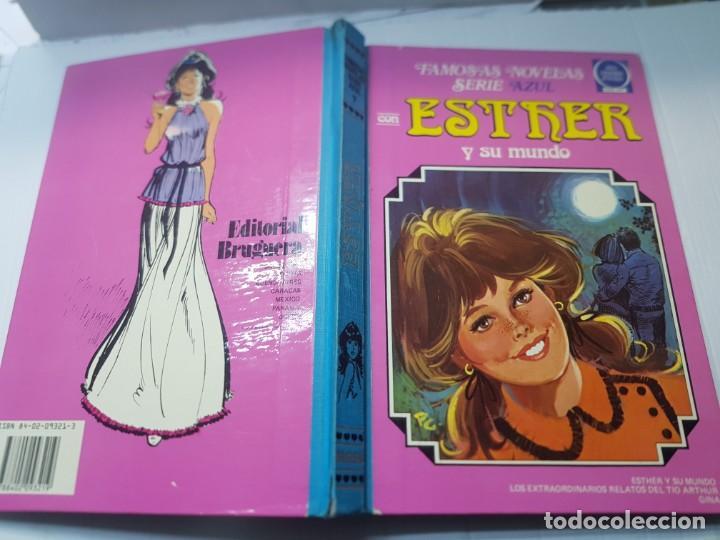 FAMOSAS NOVELAS SERIE AZUL-ESTHER-EDITORIAL BRUGUERA LOMO TELA 1983 PRIMERA EDICIÓN (Tebeos y Comics - Bruguera - Esther)