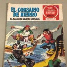 Tebeos: JOYAS LITERARIAS JUVENILES SERIE ROJA N 5, EL CORSARIO DE HIERRO-EL SECRETO DE LOS ESPEJOS. Lote 233109995