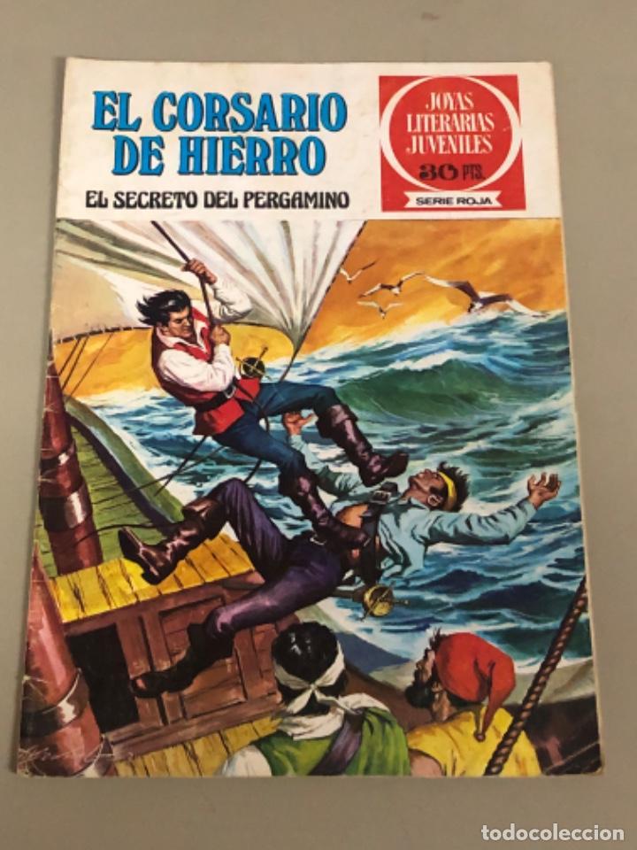 JOYAS LITERARIAS JUVENILES SERIE ROJA N 8, EL CORSARIO DE HIERRO-EL SECRETO DEL PERGAMINO (Tebeos y Comics - Bruguera - Corsario de Hierro)