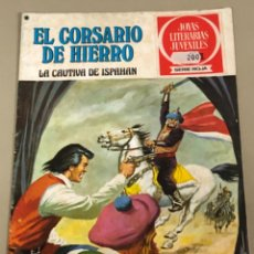 Tebeos: JOYAS LITERARIAS JUVENILES SERIE ROJA N 13, EL CORSARIO DE HIERRO-LA CAUTIVA DE ISPAHAN. Lote 233110210