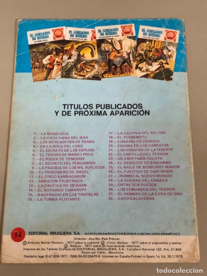 Tebeos: Joyas literarias Juveniles serie roja N 14, El corsario de hierro-El boyardo Tamaroff - Foto 2 - 233110310