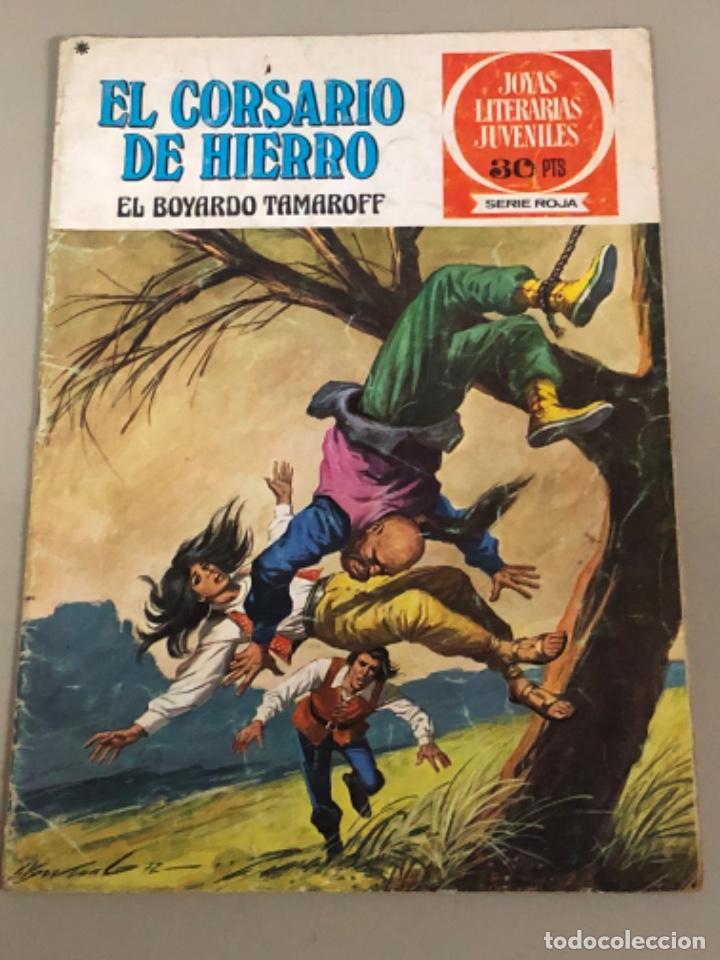 JOYAS LITERARIAS JUVENILES SERIE ROJA N 14, EL CORSARIO DE HIERRO-EL BOYARDO TAMAROFF (Tebeos y Comics - Bruguera - Corsario de Hierro)