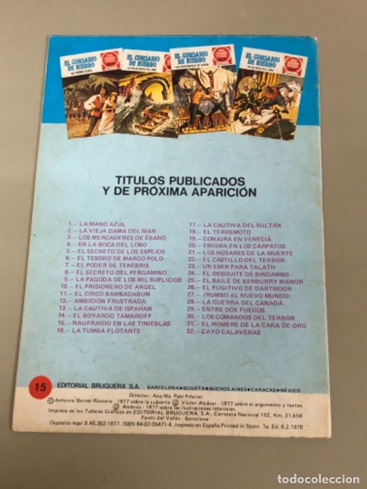 Tebeos: Joyas literarias Juveniles serie roja N 15, El corsario de hierro-Naufragio en las tinieblas - Foto 2 - 233110460