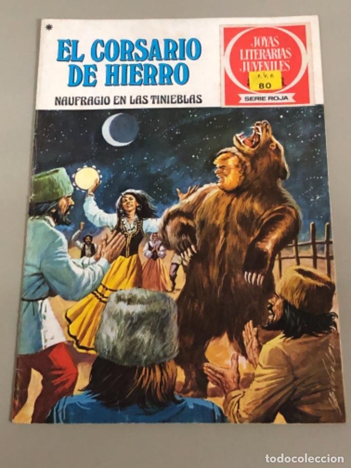 JOYAS LITERARIAS JUVENILES SERIE ROJA N 15, EL CORSARIO DE HIERRO-NAUFRAGIO EN LAS TINIEBLAS (Tebeos y Comics - Bruguera - Corsario de Hierro)